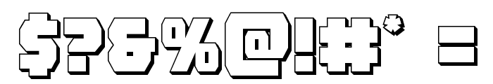 Rogue Hero 3D Font OTHER CHARS