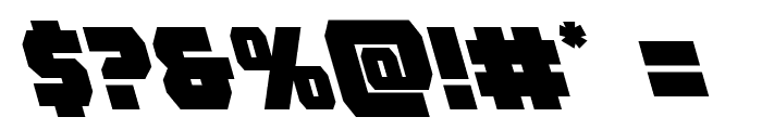 Rogue Hero Leftalic Font OTHER CHARS