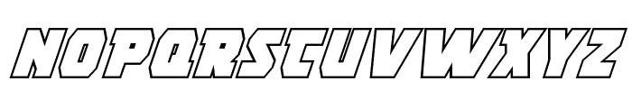 Rogue Hero Outline Italic Font UPPERCASE