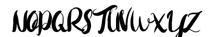 Rohman Font UPPERCASE