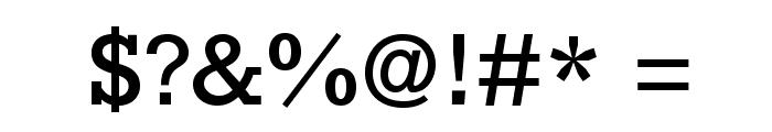 Rokkitt-Bold Font OTHER CHARS