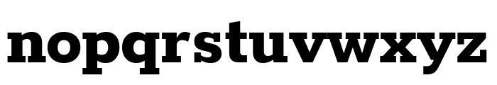 Rokkitt ExtraBold Font LOWERCASE