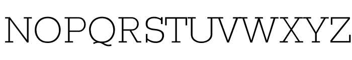 Rokkitt Light Font UPPERCASE
