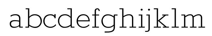 Rokkitt Light Font LOWERCASE