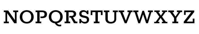 Rokkitt Medium Font UPPERCASE