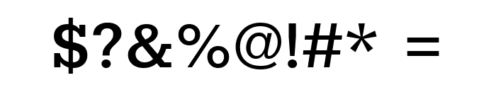 Rokkitt SemiBold Font OTHER CHARS