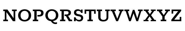 Rokkitt SemiBold Font UPPERCASE