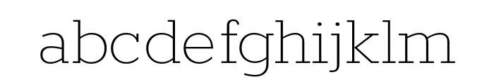 Rokkitt Thin Font LOWERCASE