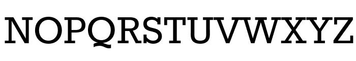 Rokkitt Font UPPERCASE