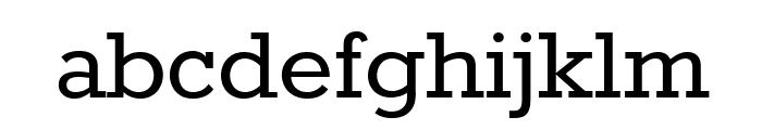 Rokkitt Font LOWERCASE
