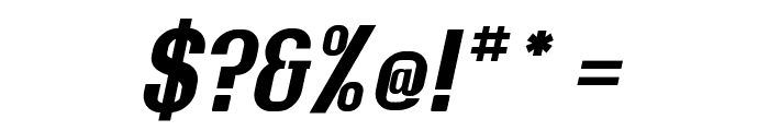 Rollout Bold Oblique Font OTHER CHARS