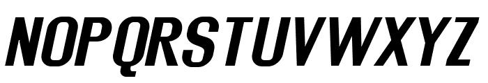 Rollout Bold Oblique Font UPPERCASE