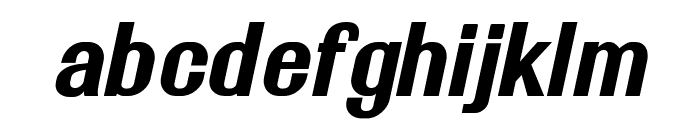 Rollout Bold Oblique Font LOWERCASE
