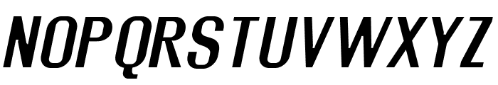 Rollout Semibold Oblique Font UPPERCASE