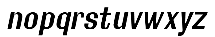 Rollout Semibold Oblique Font LOWERCASE