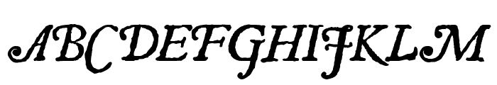 Roman Antique Italic Font UPPERCASE