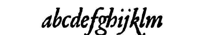Roman Antique Italic Font LOWERCASE