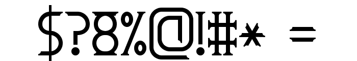 Roman Font 7 Font OTHER CHARS