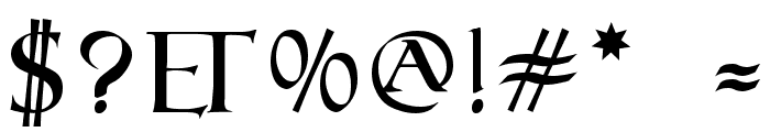 Roman SD Font OTHER CHARS