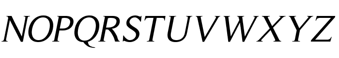 RomanSerif-Oblique Font UPPERCASE