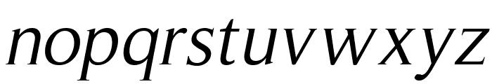RomanSerif-Oblique Font LOWERCASE