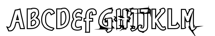 Romance Fatal Sans Hollow Font UPPERCASE