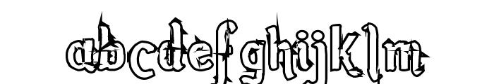 Romance Fatal Sans Hollow Font LOWERCASE