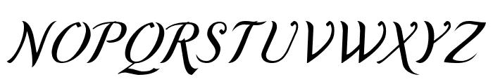 Romande ADF Script Std Italic Font UPPERCASE