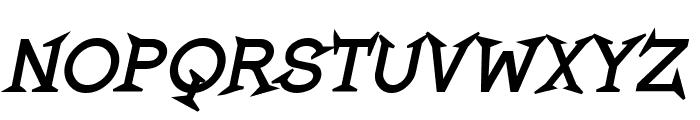 Romanicum-BoldItalic Font UPPERCASE
