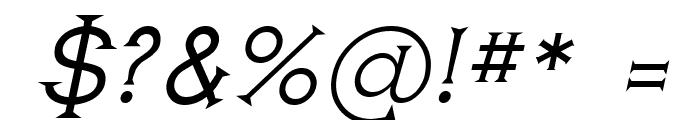 Romanicum-Italic Font OTHER CHARS