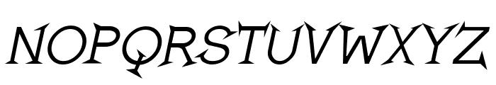 Romanicum-Italic Font UPPERCASE