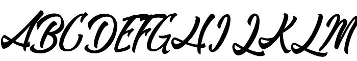 RomanticBeach Font UPPERCASE