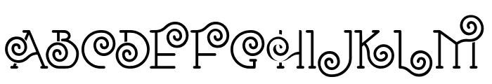Romantine Font UPPERCASE