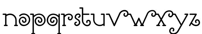 Romantine Font LOWERCASE