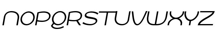Roona Sans Light PERSONAL Italic Font UPPERCASE