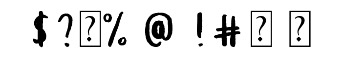 Root Beer Font OTHER CHARS