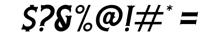 Rooters Italic Font OTHER CHARS