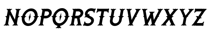 Rooters Italic Font UPPERCASE