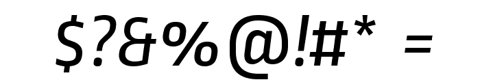 RopaSans-Italic Font OTHER CHARS