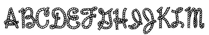 Rope MF Font UPPERCASE
