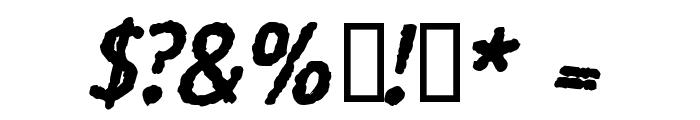 Rosango BoldItalic Font OTHER CHARS