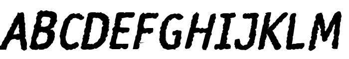 Rosango BoldItalic Font UPPERCASE