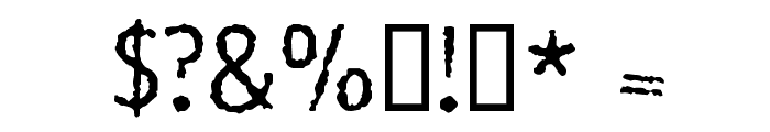 Rosango Normal Font OTHER CHARS