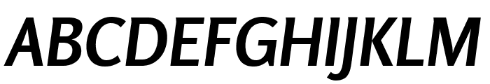 Rosario Bold Italic Font UPPERCASE