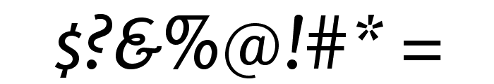 Rosario-Italic Font OTHER CHARS