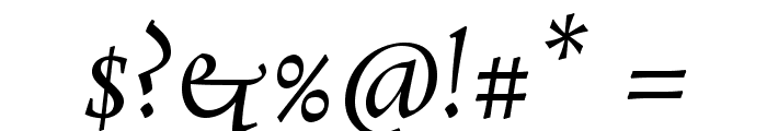Rosarivo Italic Font OTHER CHARS