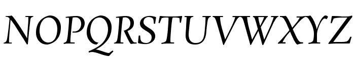 Rosarivo Italic Font UPPERCASE
