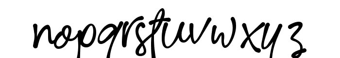 RoseColored Font LOWERCASE