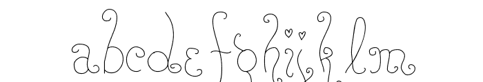 RoseWater Font LOWERCASE
