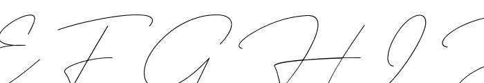Rosebondy Demo Font UPPERCASE